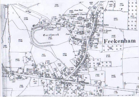 Atkins, Elizabeth. Feckenham Map 1904. 25″ Mile. Print